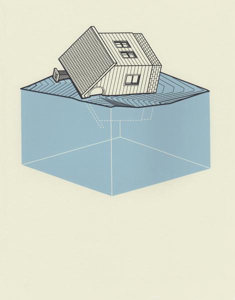 Four Houses Screenprint